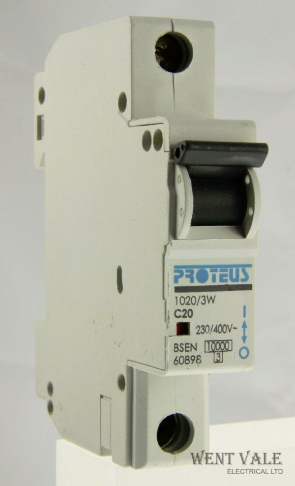 Proteus 1020/3W - 20a Type C Single Pole MCB Used